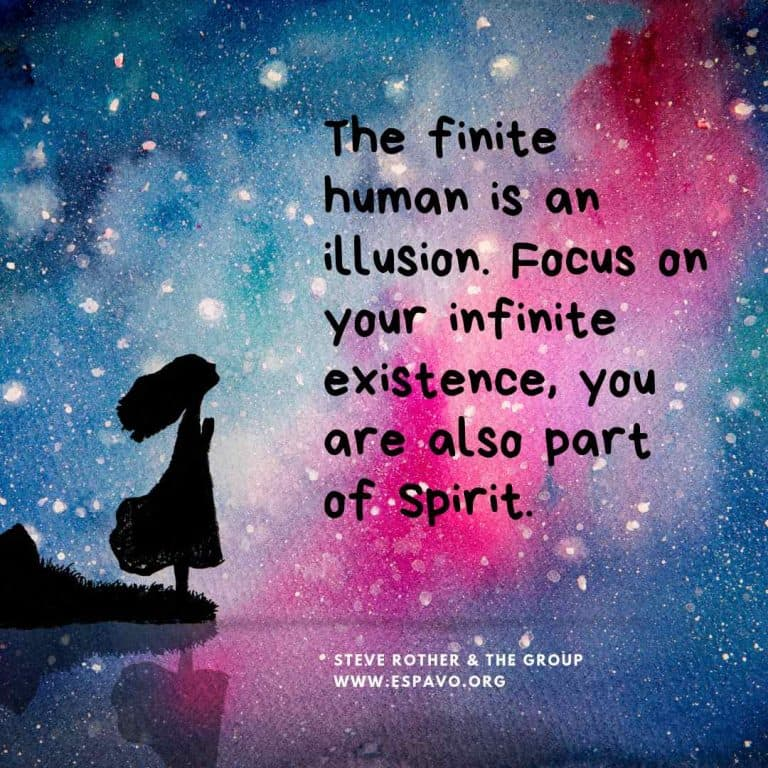 Focus on your infinite existence