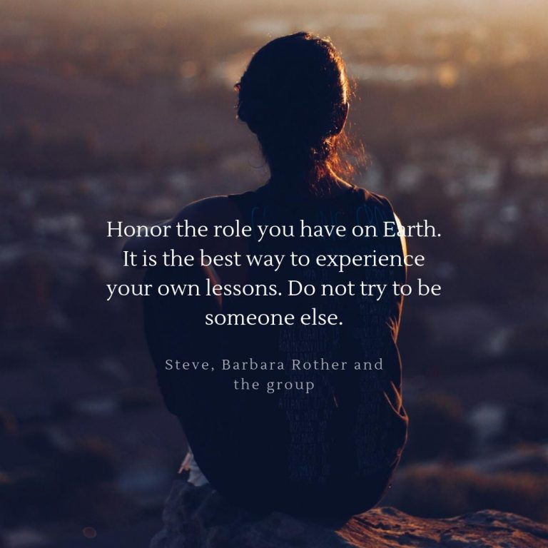 not try be someone else