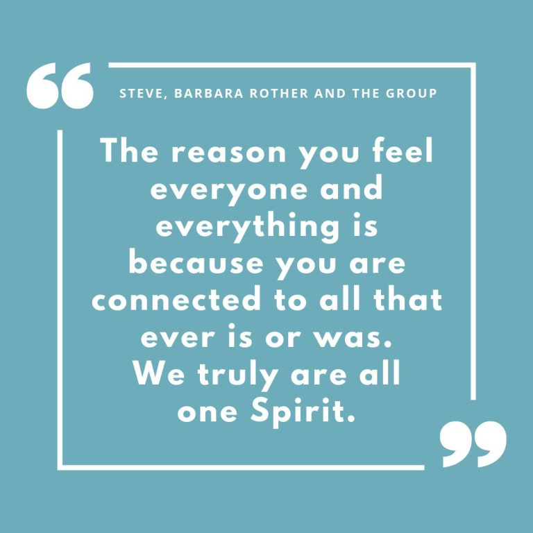 We truly are all one Spirit.