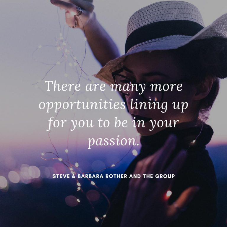 Be in your passion