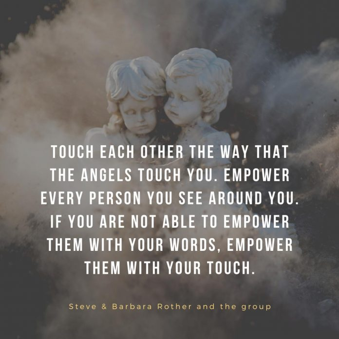 angels touch you