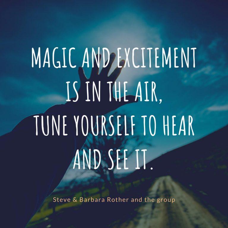 Magic in the air quotes